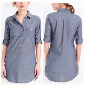 J. Crew Chambray Tunic Top Size XSP